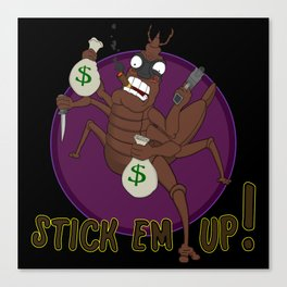 Stick Em Up Stickbug Canvas Print
