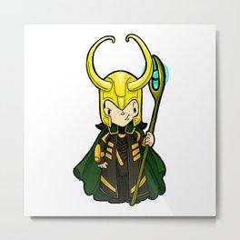 Loki, the trickster God Metal Print