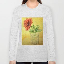 flower in a glass . illustration . art Long Sleeve T-shirt