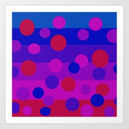 Sweet Berry Pie with Floating Circles Art Print