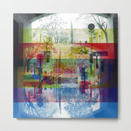 Remembering rushing through but without obstacles. [CMYK] Metal Print