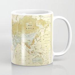 The World [Vintage] Relief Map Coffee Mug