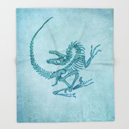 Velociraptor Throw Blanket
