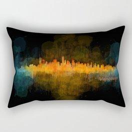 Vancouver Canada City Skyline Hq v04 dark Rectangular Pillow