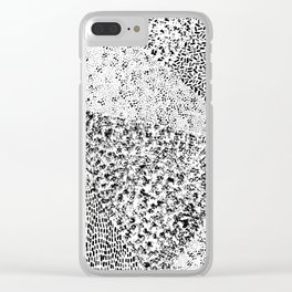 Black & White Triangles Clear iPhone Case