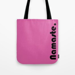 Namaste Yoga Print in Hot Pink Tote Bag
