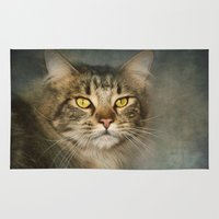 maine Area & Throw Rugs featuring Maine Coon by Pauline Fowler ( Polly470 )