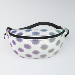 Ombre cyber atomic flower science print Fanny Pack