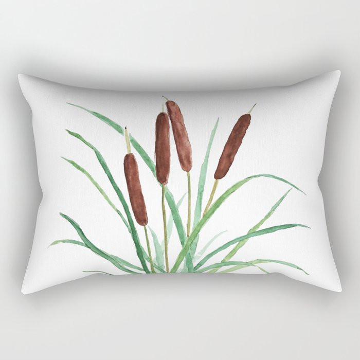 cattails plant Rectangular Pillow