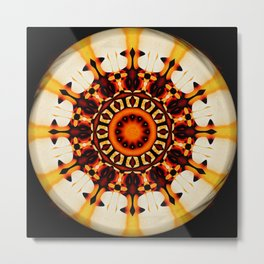 Fire God Eye Abstract Metal Print
