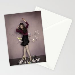 A thousand paper cranes Stationery Cards