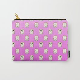 Cute Owls Pink Pattern Carry-All Pouch