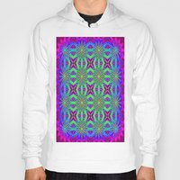 psychedelic art Hoodies featuring PSYCHEDELIC flowers by 2sweet4words Designs