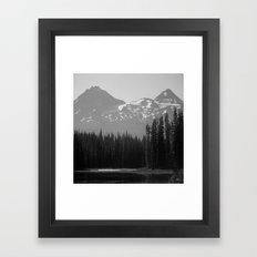 Lake Mist Framed Art Print