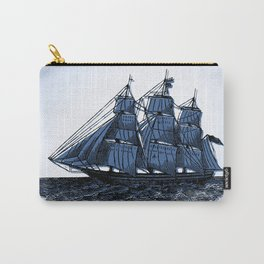 Sail Away Vintage Sailing Ship Carry-All Pouch