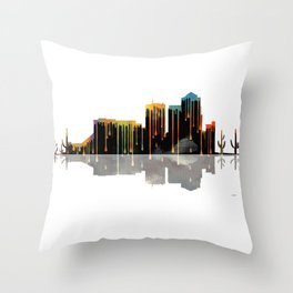 Tucson Skyline BW1 Throw Pillow