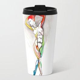 Glamour, Nude female dancer, NYC artist Travel Mug