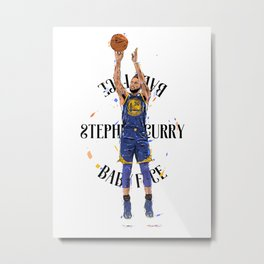 Stephen «Babyface» Curry Metal Print