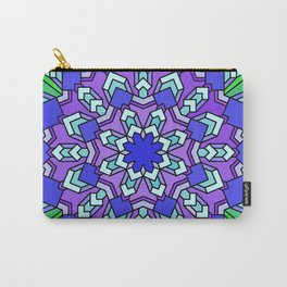 Kaleidoscope of Cool Colors Carry-All Pouch