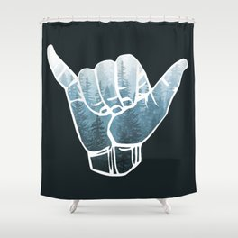 Misty Forest Hang Loose Shower Curtain