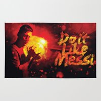 messi Area & Throw Rugs featuring Do it like messi by Axel Savvides