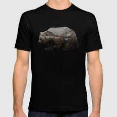The Kodiak Brown Bear Mens Fitted Tee MEDIUM Black