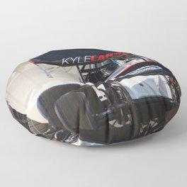 Kyle Larson motor heat Floor Pillow