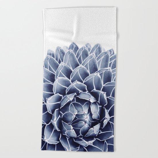 Succulent splendour - chambray Beach Towel