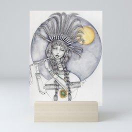 JennyMannoArt graphite and watercolor/Katherine Mini Art Print
