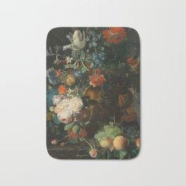 Jan van Huysum - Still Life with Flowers and Fruit Bath Mat