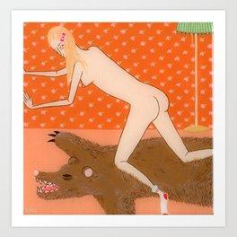 Nude Bear Art Print