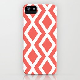 Coral Diamond iPhone Case