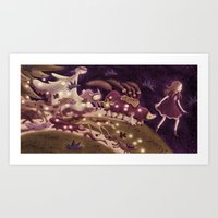 friday Art Prints featuring Friday by Steph Kunze
