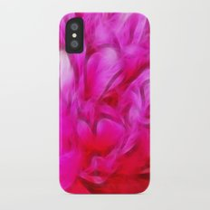 Peony heart iPhone X Slim Case