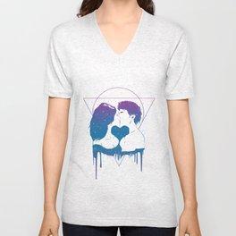 Cosmic love (color version) Unisex V-Neck