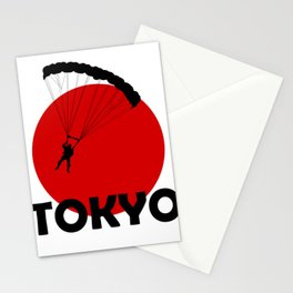 Paragliding LOVE in Tokyo Stationery Cards
