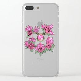 Rose Quartz Tattoo Version 4 Clear iPhone Case