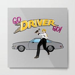 Go Driver Go! Metal Print