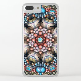 Colorful Circle of 3D Shapes Clear iPhone Case