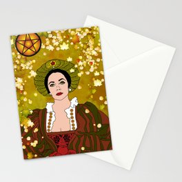 Queen of Pentacles Stationery Cards