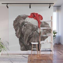 Christmas Baby Elephant Wall Mural