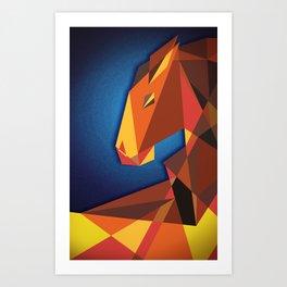 Abstract horse- Caballo abstracto Art Print