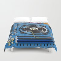 computer Duvet Covers featuring Computer Motherboard by Nick's Emporium Gallery