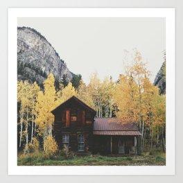 Crystal Cabin Art Print