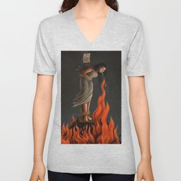 Keep Cool Oil Painting Unisex V-Neck