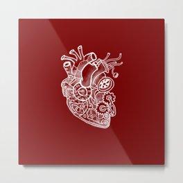 Steam-powered Heart Metal Print