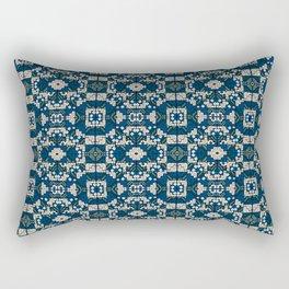 Chacana Azul Ultramar Rectangular Pillow