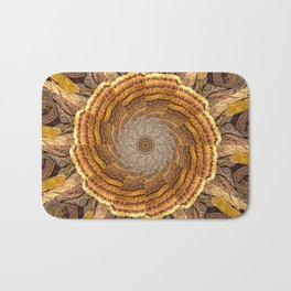 Bracket Fungi Mandala Bath Mat