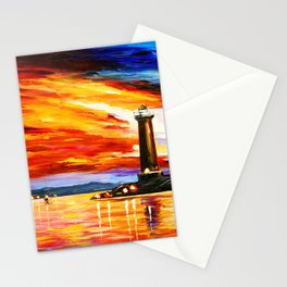 Light Art Tower Stationery Cards