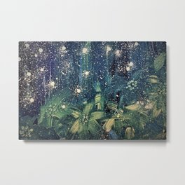 expressiv blue and yellow starry night Metal Print